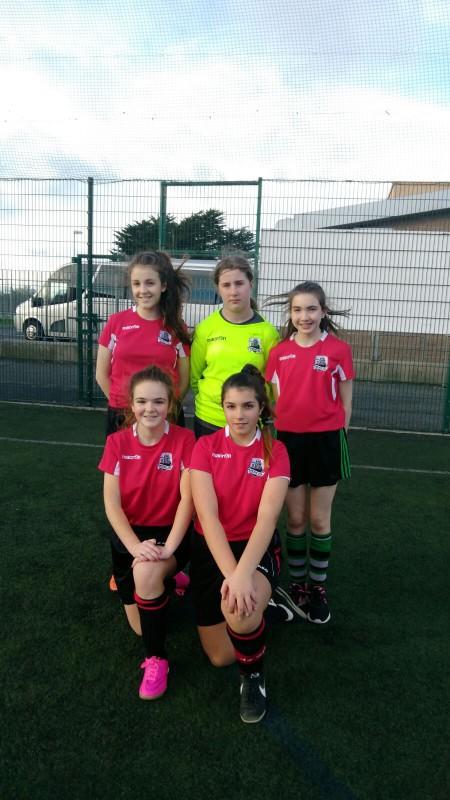 1st year girls Futsol squad